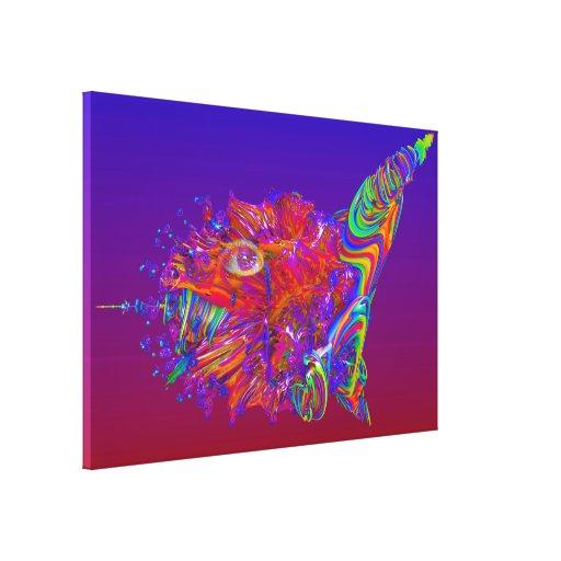 Criatura estrangeira do mar impressão de canvas esticada