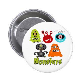 Criaturas assustadores assustadores dos aliens dos boton