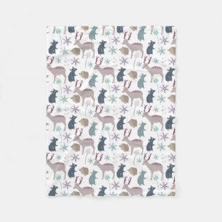 Criaturas do animal da floresta do bebê cobertor de lã