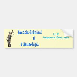 criminologia criminoso de $ do justicia adesivo para carro