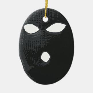 Criminoso liso ornamento de cerâmica oval
