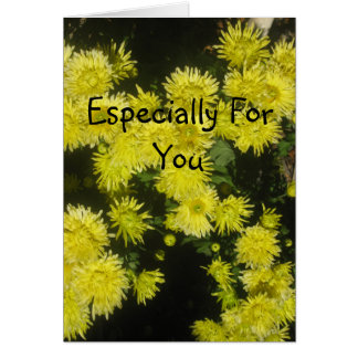 Crisântemo amarelo, especialmente para você cartão comemorativo