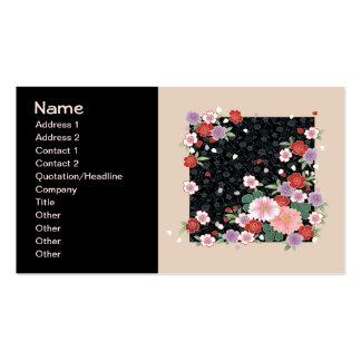Crisântemo & belas artes do japonês de Sakura Cartão De Visita