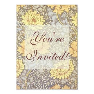 Crisântemos do papel de parede floral do vintage convites