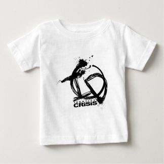 Crise de identidade - preto camiseta para bebê