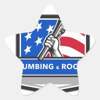 Crista da bandeira dos EUA da chave de tubulação Adesivo Estrela