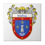 Crista da brasão/família de Molina Azulejo Quadrado Pequeno