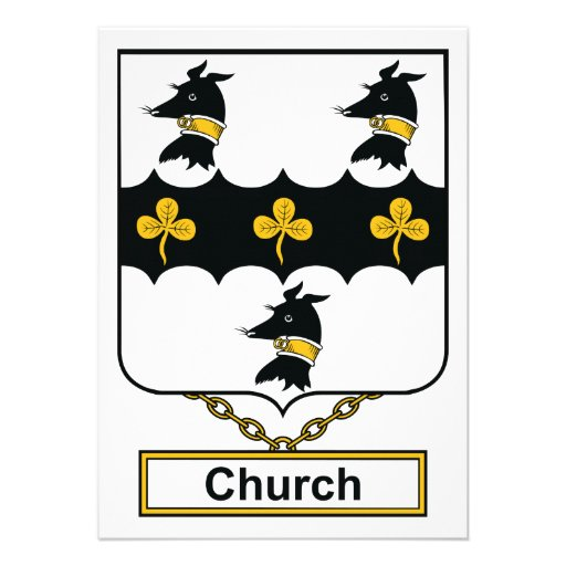 Crista da família da igreja convites personalizados
