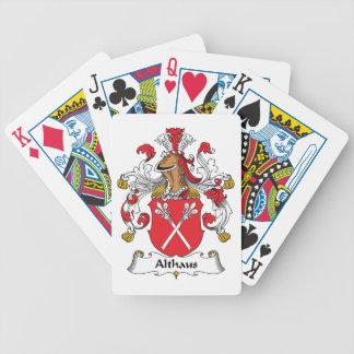 Crista da família de Althaus Jogos De Baralho