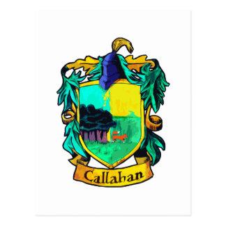 Crista da família de Callahan (entalhe) Cartão Postal
