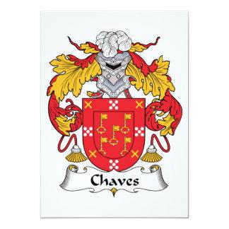 Crista da família de Chaves Convite 12.7 X 17.78cm