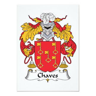 Crista da família de Chaves Convites Personalizados