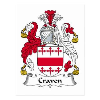 Crista da família de Craven Cartão Postal
