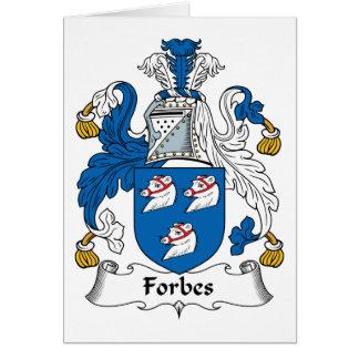 Crista da família de Forbes Cartões