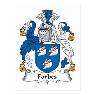 Crista da família de Forbes Cartão Postal