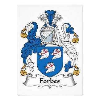 Crista da família de Forbes Convites Personalizado