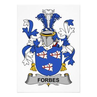 Crista da família de Forbes Convite