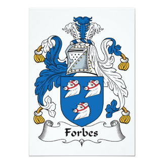Crista da família de Forbes Convite 12.7 X 17.78cm
