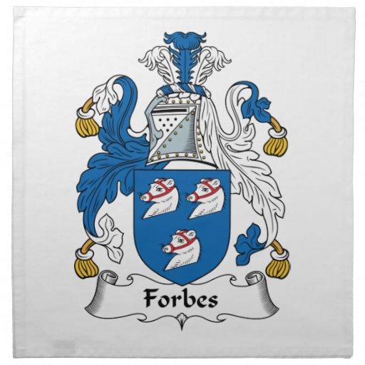 Crista da família de Forbes Guardanapos