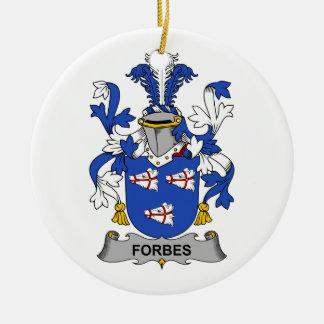 Crista da família de Forbes Ornamento De Cerâmica Redondo
