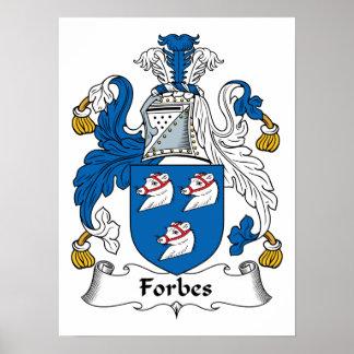 Crista da família de Forbes Pôsteres