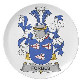Crista da família de Forbes Louças De Jantar
