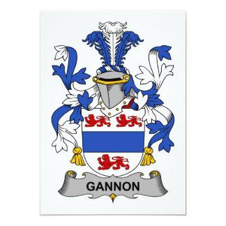 Crista da família de Gannon Convite 12.7 X 17.78cm