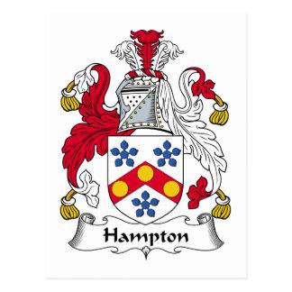 Crista da família de Hampton Cartão Postal