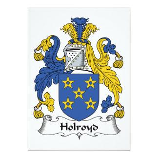 Crista da família de Holroyd Convite 12.7 X 17.78cm