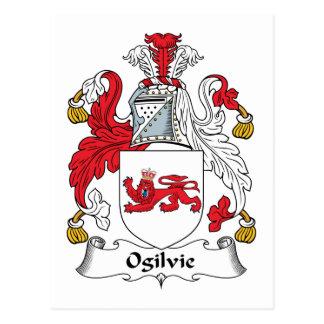 Crista da família de Ogilvie Cartão Postal