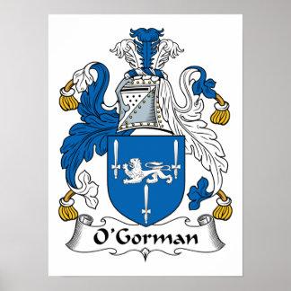 Crista da família de O'Gorman Pôster