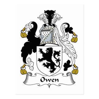 Crista da família de Owen Cartão Postal
