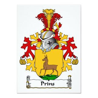 Crista da família de Prins Convites Personalizados