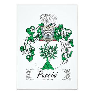 Crista da família de Puccini Convite