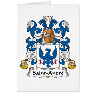 Crista da família de Santo-Andre Cartão Comemorativo