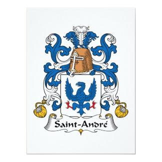 Crista da família de Santo-Andre Convite 16.51 X 22.22cm