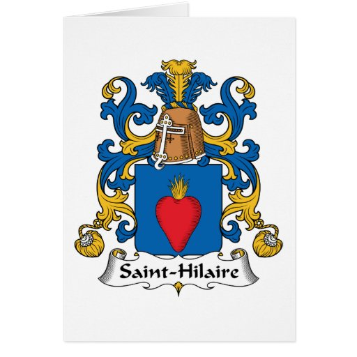 Crista da família de Santo-Hilário Cartoes