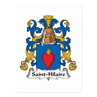Crista da família de Santo-Hilário Cartão Postal