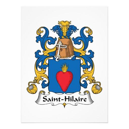 Crista da família de Santo-Hilário Convites Personalizado