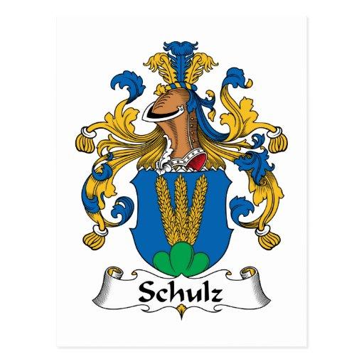 Crista da família de Schulz Cartoes Postais