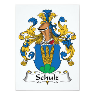 Crista da família de Schulz Convite Personalizado