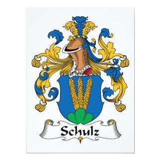Crista da família de Schulz Convite 16.51 X 22.22cm