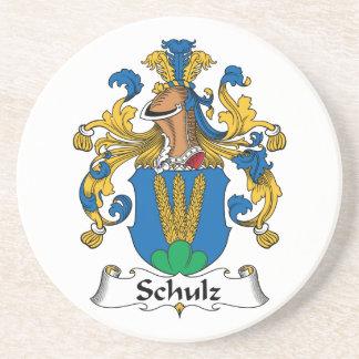 Crista da família de Schulz Porta Copos De Arenito