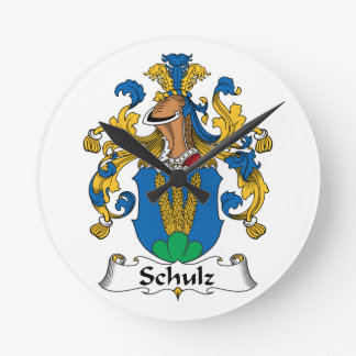 Crista da família de Schulz Relógios De Pendurar