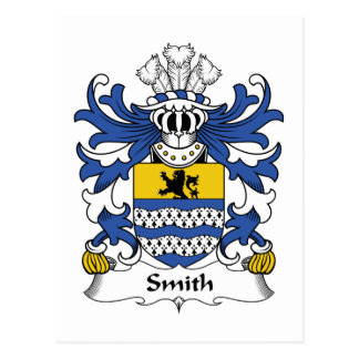 Crista da família de Smith Cartão Postal