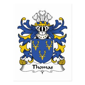 Crista da família de Thomas Cartão Postal