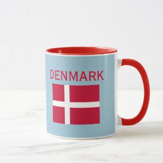 Crista de Copenhaga Dinamarca & caneca da bandeira
