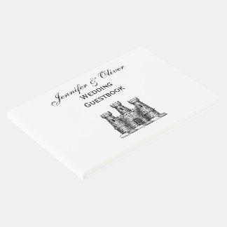 Crista heráldica da brasão do emblema do castelo livro de visitas