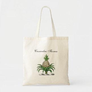 Crista heráldica formal da brasão do abacaxi bolsa tote