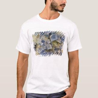 Cristais azuis da fluorite na matriz camiseta